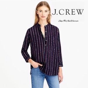 J. Crew metallic stripe tunic top